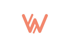 Orange Business Brand Logo with Letter W Etichetta