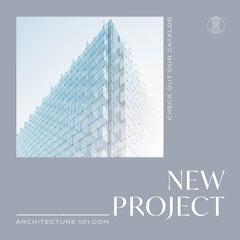 Grey Architecture New Project Instagram Square Architecture