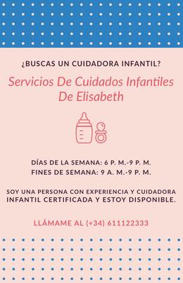 Servicios De Cuidados Infantiles <BR>De Elisabeth  Octavilla