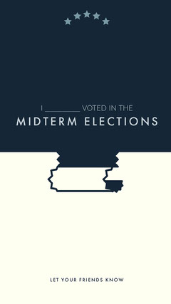 Blue and White Minimalistic Election Vote Announcement Instagram Story Voting