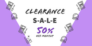White and Violet Sale Advertisement Ads Banner