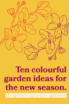 Yellow Illustrated Floral Gardening Ideas Pinterest Graphic Garden