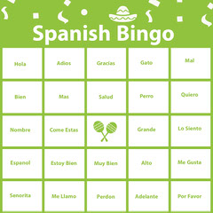 Spanish Bingo  Green