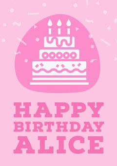 cake birthday card Cakes