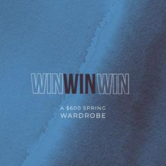 Blue and White Wardrobe Instagram Graphic Contest