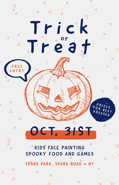 Halloween Trick or Treat Poster Food Flyer