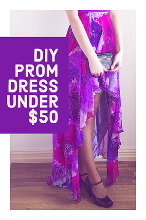 Purple and White DIY Prom Dress Pinterest Post Grafica per social media