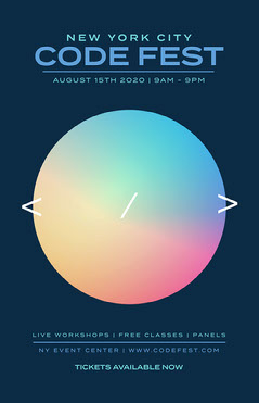 Rainbow Gradient Circle Code Fest Poster Rainbow