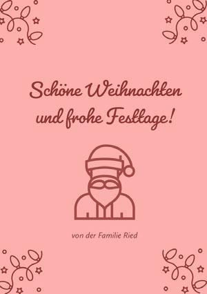 und frohe Festtage! Weihnachtskarte