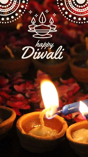 Diwali Festival Snapchat Story with Candles Diwali