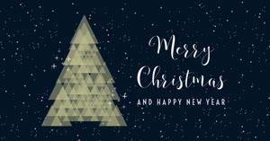 Black Christmas Facebook Post Christmas Facebook Cover