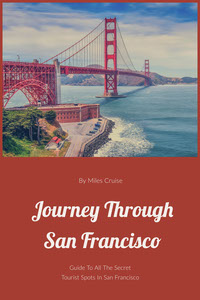 Orange and Blue Journey Through San Francisco Book Cover 책 표지