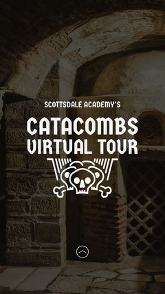 Brown Overlay Catacombs School Virtual Tour Instagram Story  Music Tour