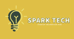 Yellow and Black Minimalistic Tech Startup Hub Facebook Banner Tech