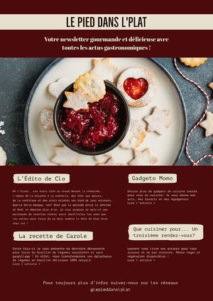 Brown Winter Food Blog  Newsletter A4  Newsletter