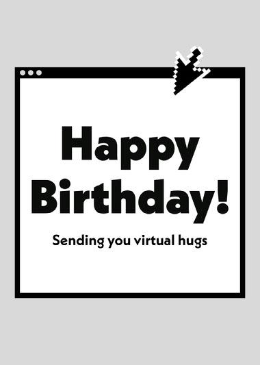 Happy Birthday Internet Virtual Hugs COVID-19-Geburtstagskarten