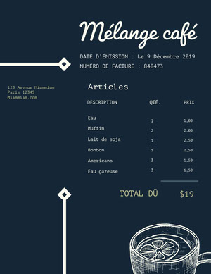 cafe invoice  Facture