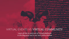 Virtual Events vs. Virtual Community Seminar Flyer