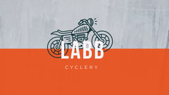 Grey and Orange Labb Cover Bike