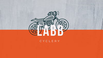 Grey and Orange Labb Cover Ideas de logotipos