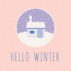 Hello Winter Snowy Cozy cabin  gsquare Hello