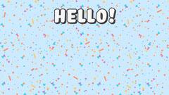 Colourful Confetti Hello Zoom Background 16:9 Confetti