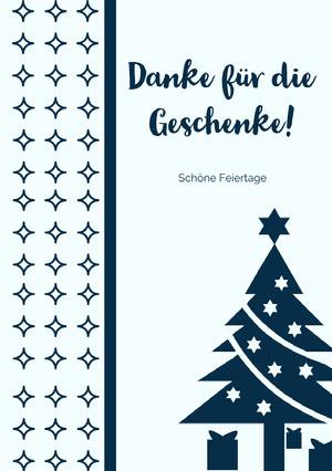 Danke für die Geschenke!  Weihnachtskarte