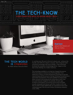 Technology and Computers Newsletter Graphic Tech
