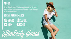 Photographer Kimberly Jones Media Kit  Social Media Flyer