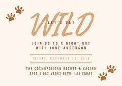 Brown Bachelorette Party Invitation Casino