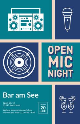 open mic night poster Flyer