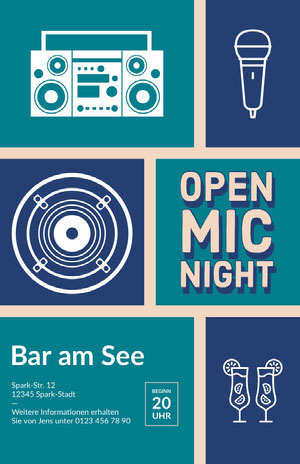 open mic night poster Poster