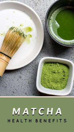 Green and Healthy Food Matcha Flyer Food Flyer