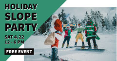 Green and White Holiday Slope Party Advertisement Holiday Party Flyer