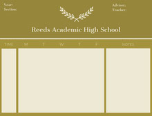 Reeds Academic High School  行程表