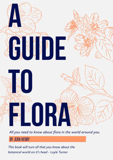 Orange and Blue Flora and Plants Book Cover Couverture de livre
