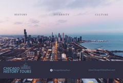 City Tour Travel and Tourism Brochure with Chicago Agency