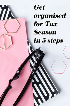 Pink Black White Tax Season Tips Pinterest Tax Flyer