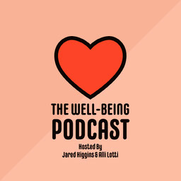 Pink and Red Heart Well-being Podcast Instagram Square