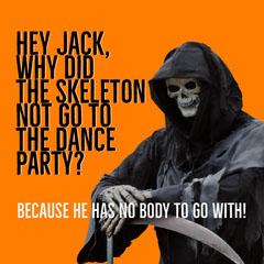 Orange, Black and White Halloween Joke Instagram Post Jokes
