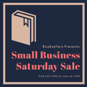 Navy Small Business Saturday Book Sale Instagram Square petite entreprise