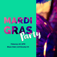 Mardi Gras Club Party