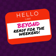 Red and Violet Sentence Instagram Graphic Hello