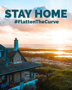 Blue Flatten the Curve Instagram Portrait Sweet Home