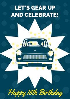 birthday card for man Car