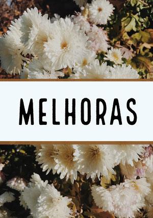 white floral get well soon cards  Cartão de melhoras