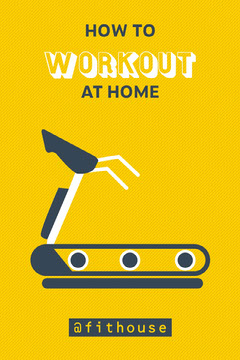 Yellow How To Workout At Home Poster Gym