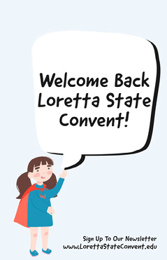 Blue & Red Loretta State Convent Education Poster Welcome Poster