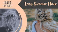 Grey and White Easy Summer Hair Banner Hair Salon