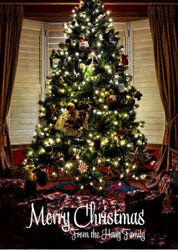 Christmas Tree Merry Christmas Card